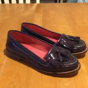 Boden Patent Leather Kilty Loafers